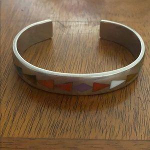 Sterling s multi color stone vintage bracelet